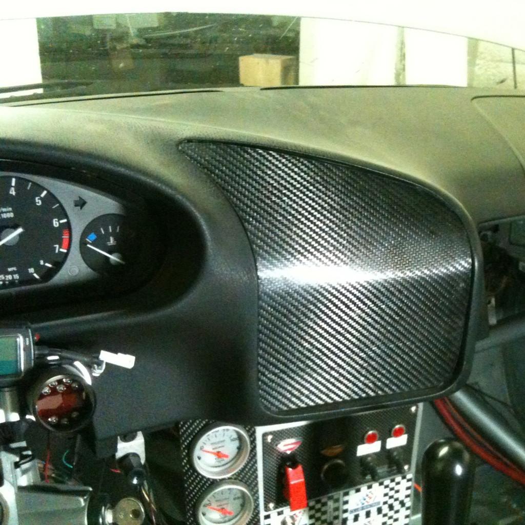 BMW E36 Carbon Dash Panel Filler