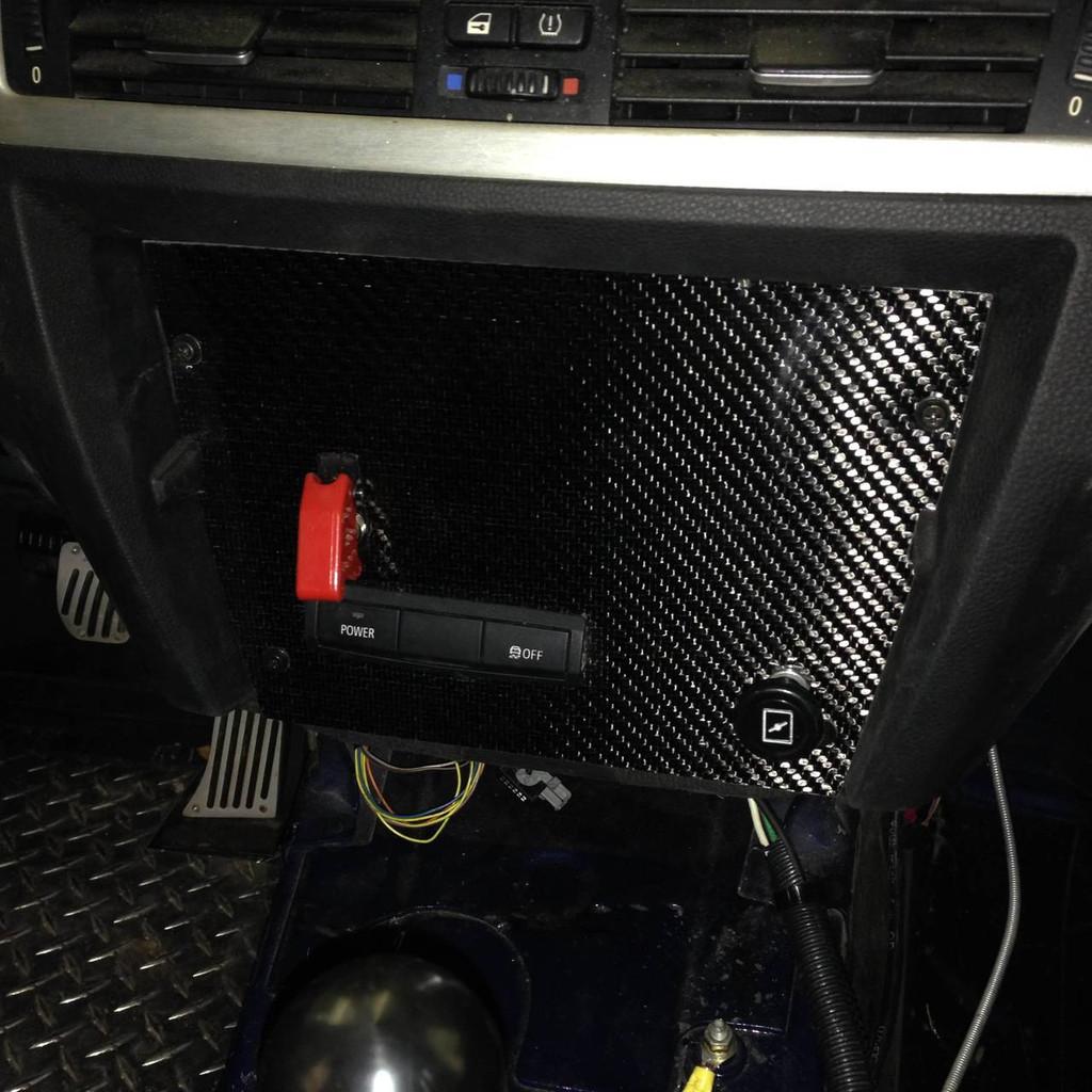 BMW E92 Carbon Dash Panel Filler