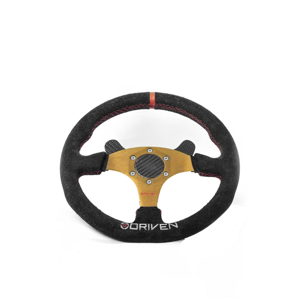 Steering Wheel w/ 2 Button Switch Plate and Carbon Cap