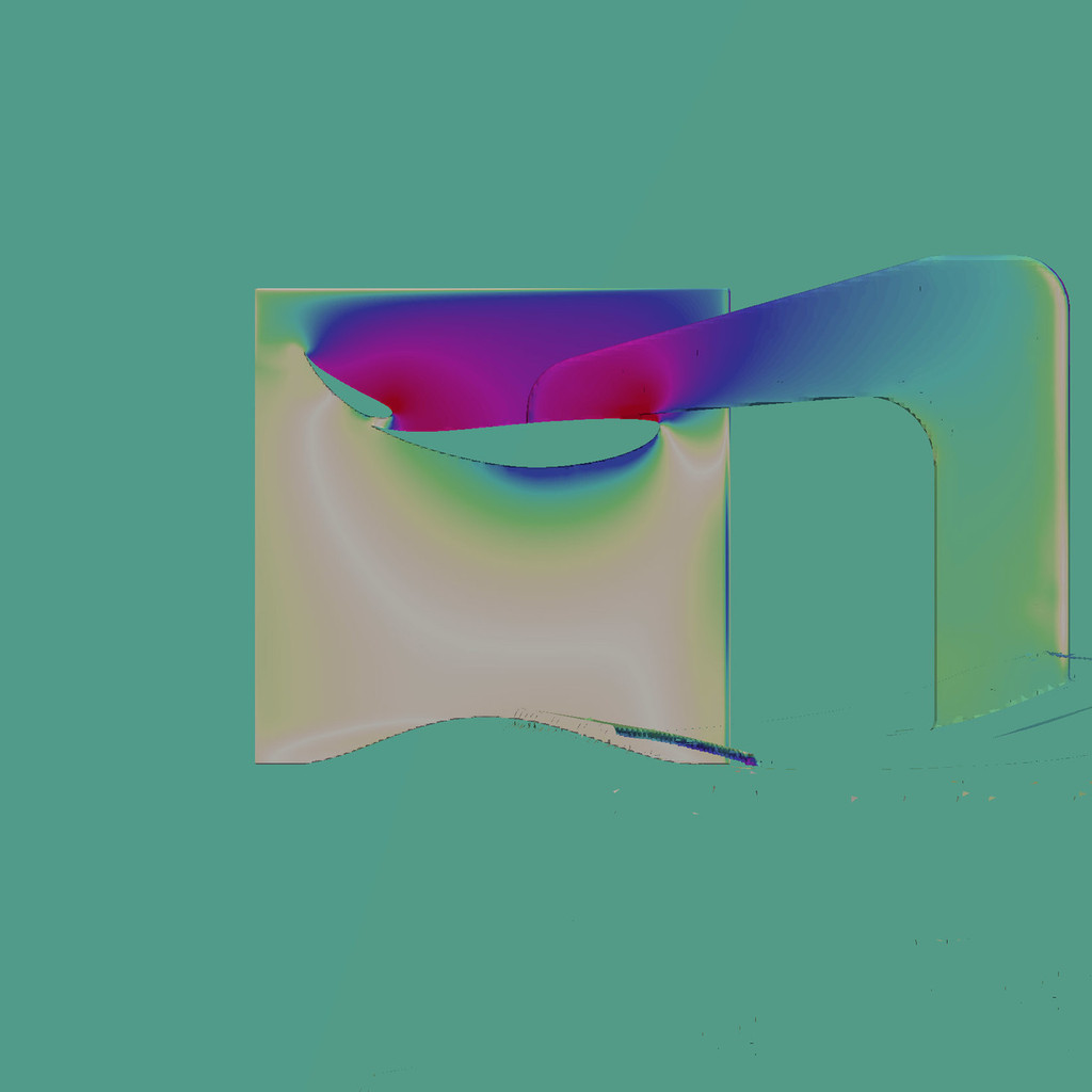 "Racing Wing, 12"" Dual Element, CFD Slice"