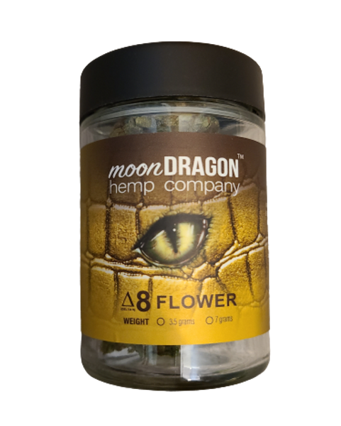 Moon Dragon Hemp Co Delta 8 Flower is grown in our greenhouses in Colorado. We Chryo cure and trim our flower to keep it as fresh as possible.  Open the top and enjoy the floral smell.
