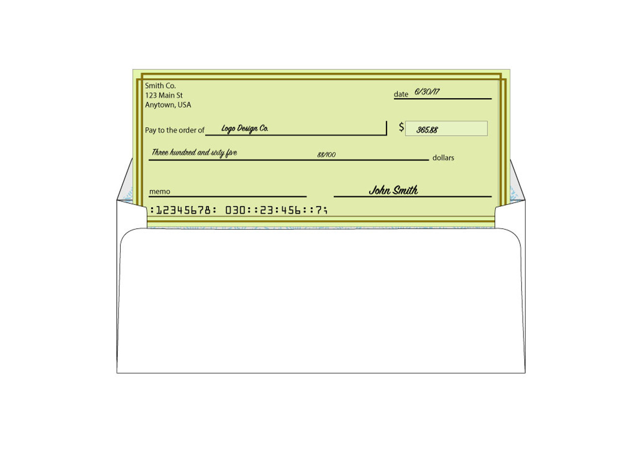 Custom #10 Security Window Envelopes - EN1003