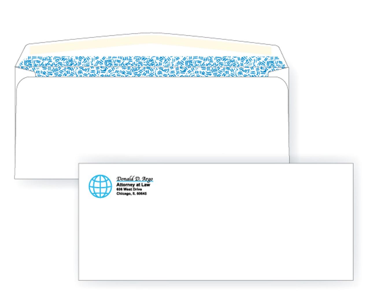 PRINTED - Custom #10 Security Side Seam Envelopes - EN1004