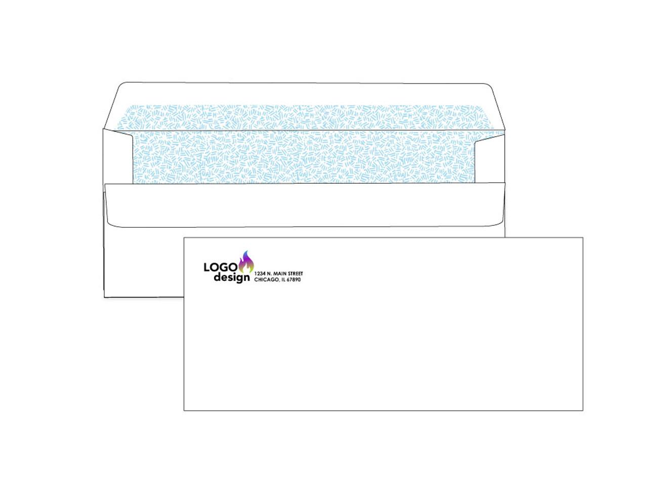 Custom #10 Security Simple Seal Envelopes - EN1007