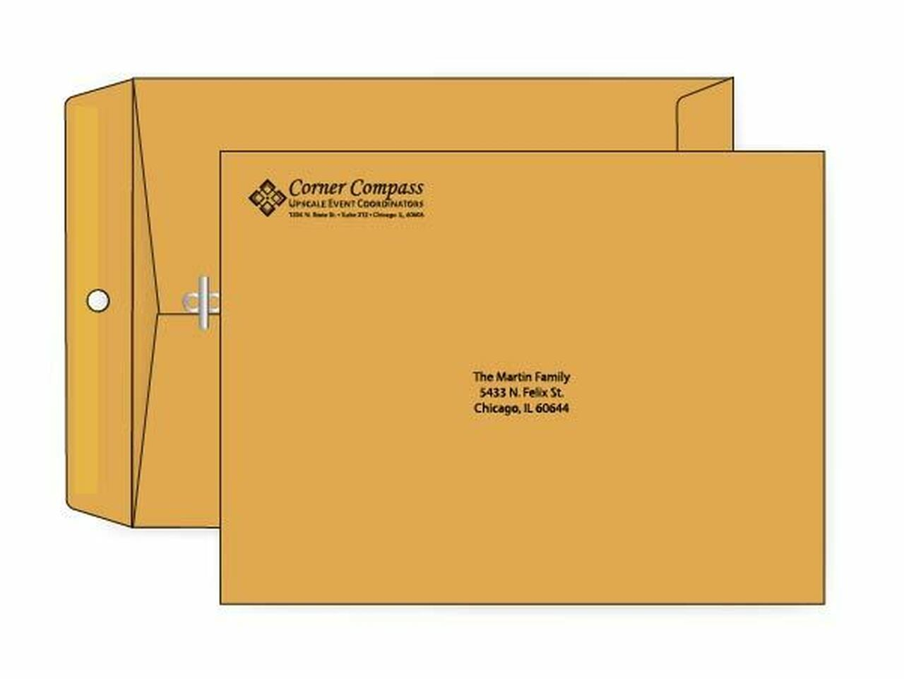 PRINTED - Custom 9x12 Clasp Envelopes - EN1016