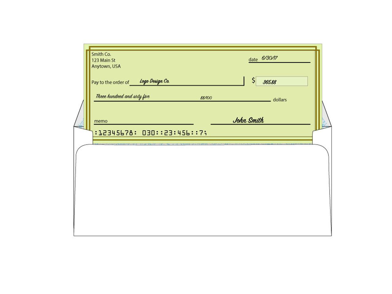 Custom Right Window Security Envelopes - EN1017