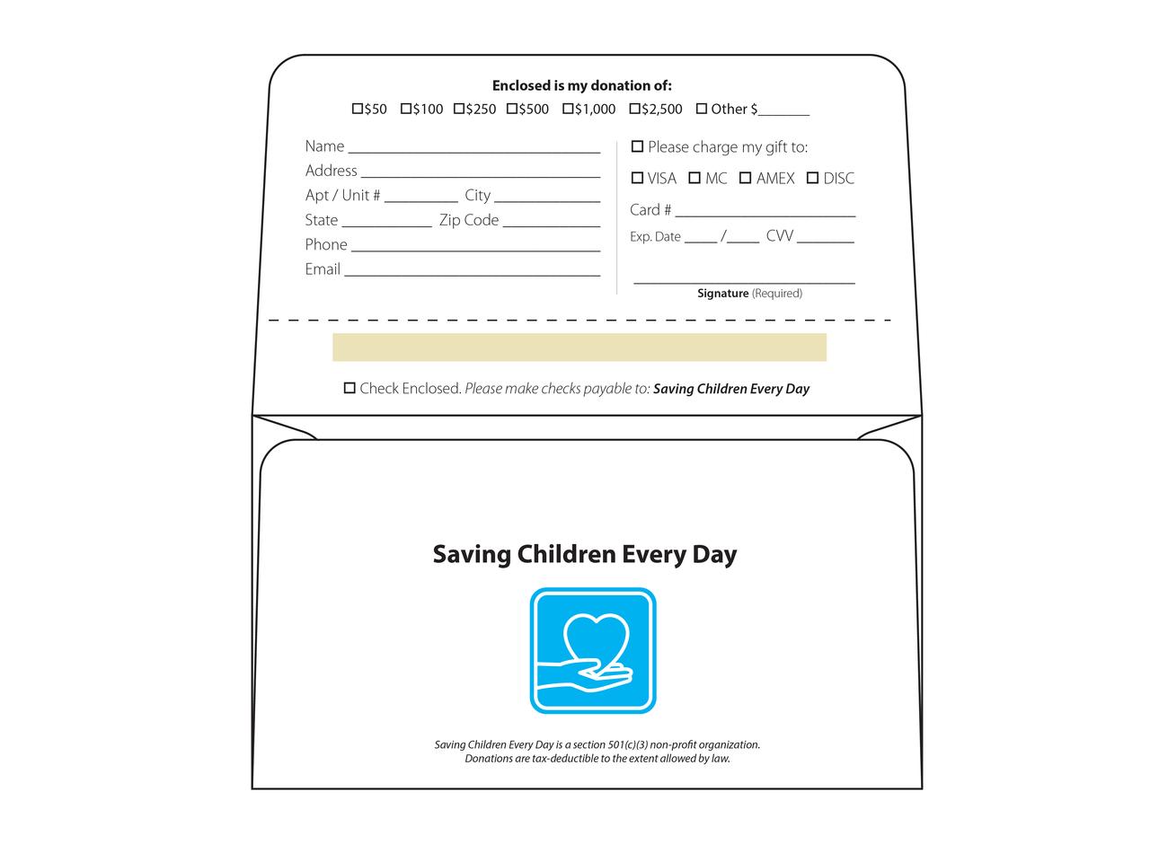 Custom Tear-Off  Remittance Envelopes - EN1020