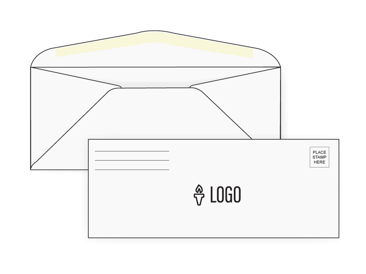 PRINTED - Custom No 9 Envelopes - EN1028