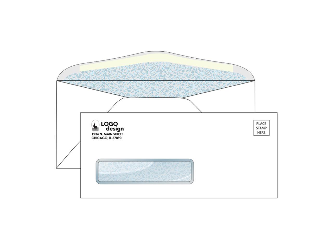 Custom 9 Envelopes - Security Window - EN1035