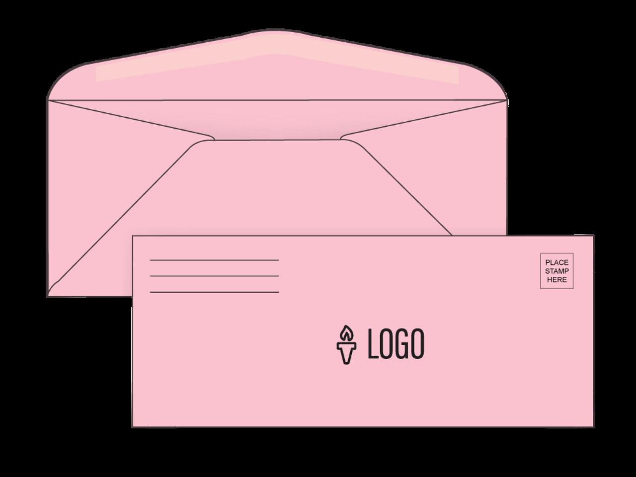 PRINTED - Custom Pink #10 Envelopes - EN1045