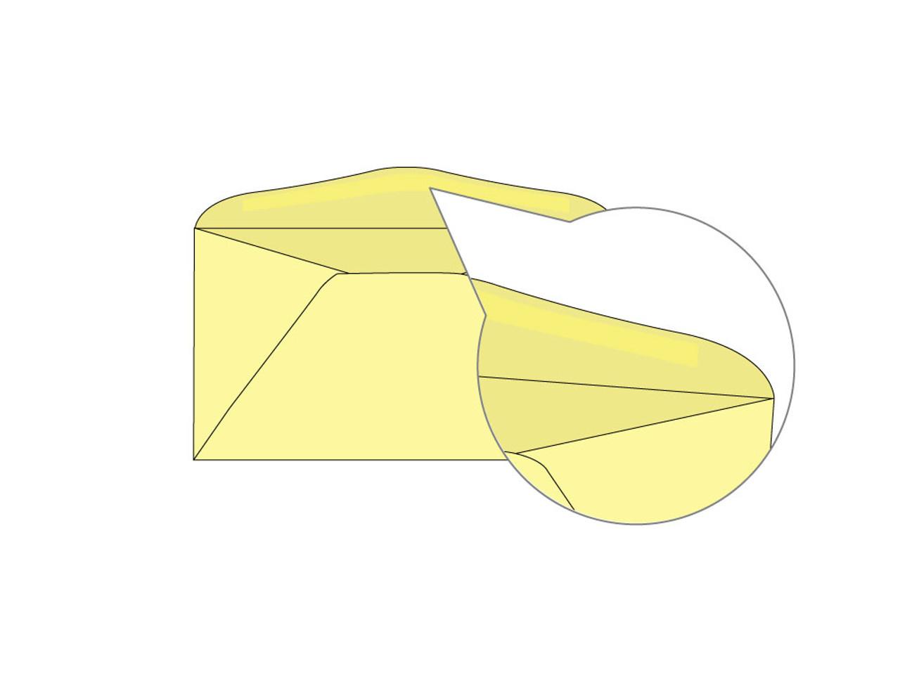 PRINTED - Custom Yellow 6.75 Envelopes - EN1051