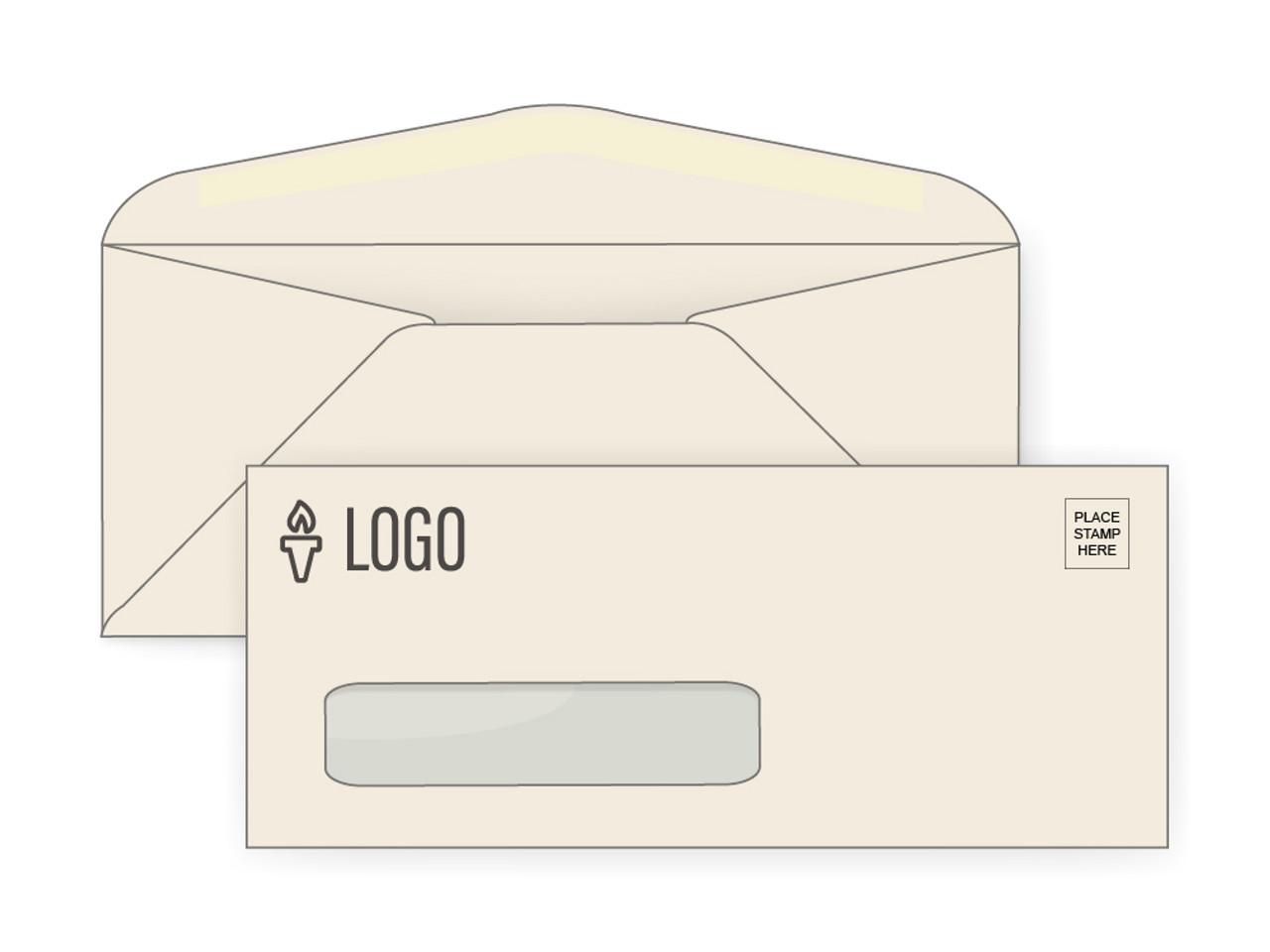 Custom #10 Ivory Window Envelopes - EN1069