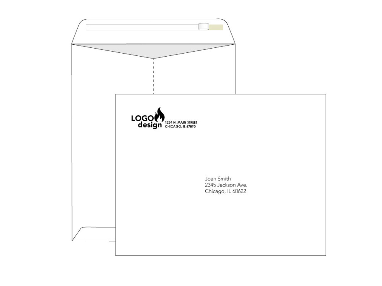 Custom Self Seal 10x13 Envelopes - EN1008