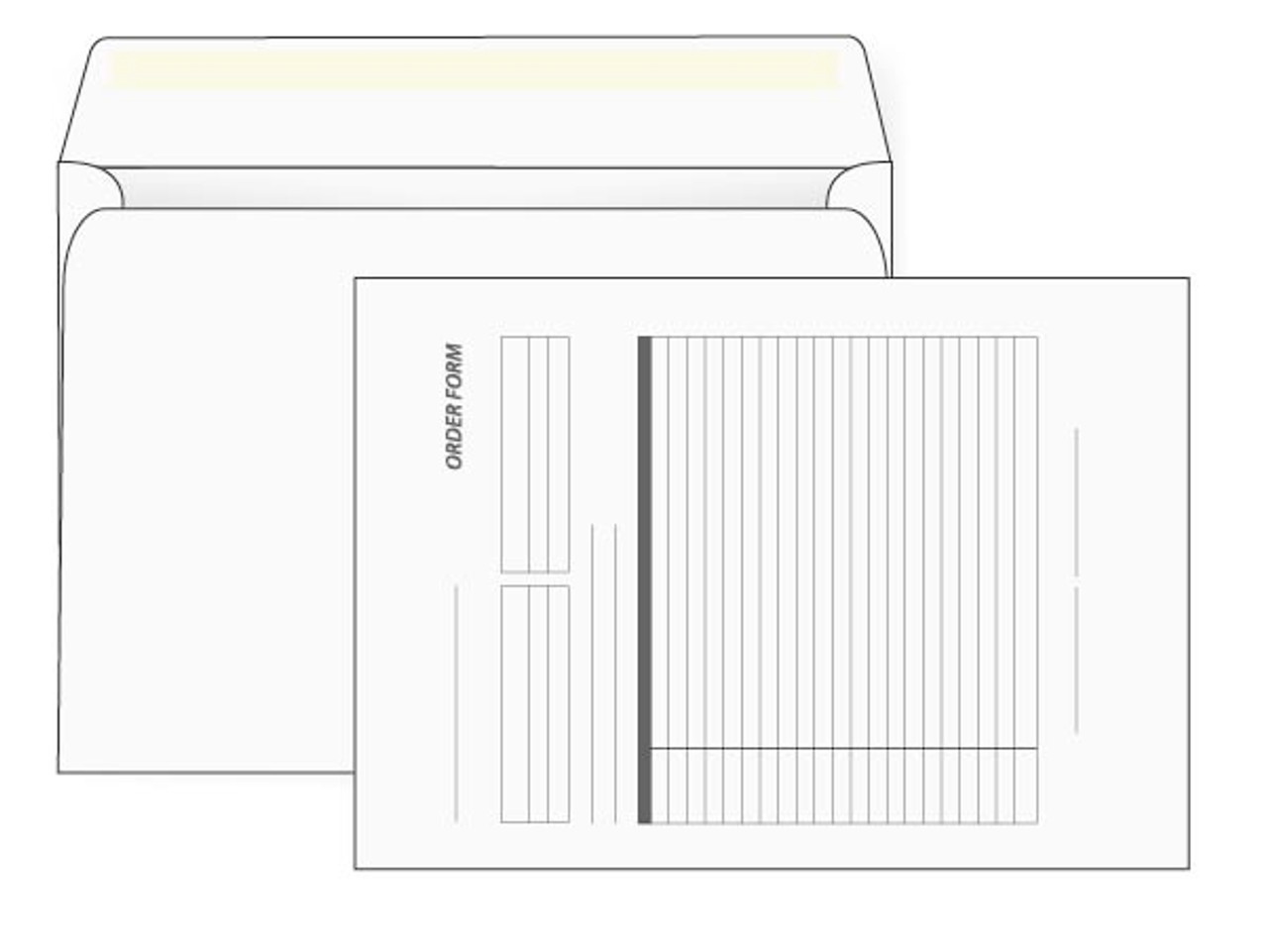 PRINTED - White Custom 9x12 Booklet Envelopes - EN1063
