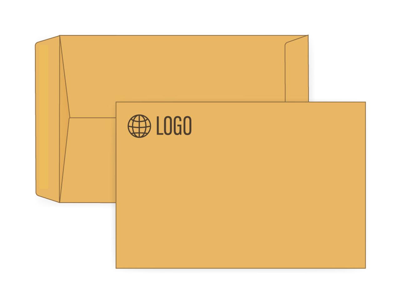 PRINTED - Custom Brown Kraft 6x9 Envelopes - EN1066