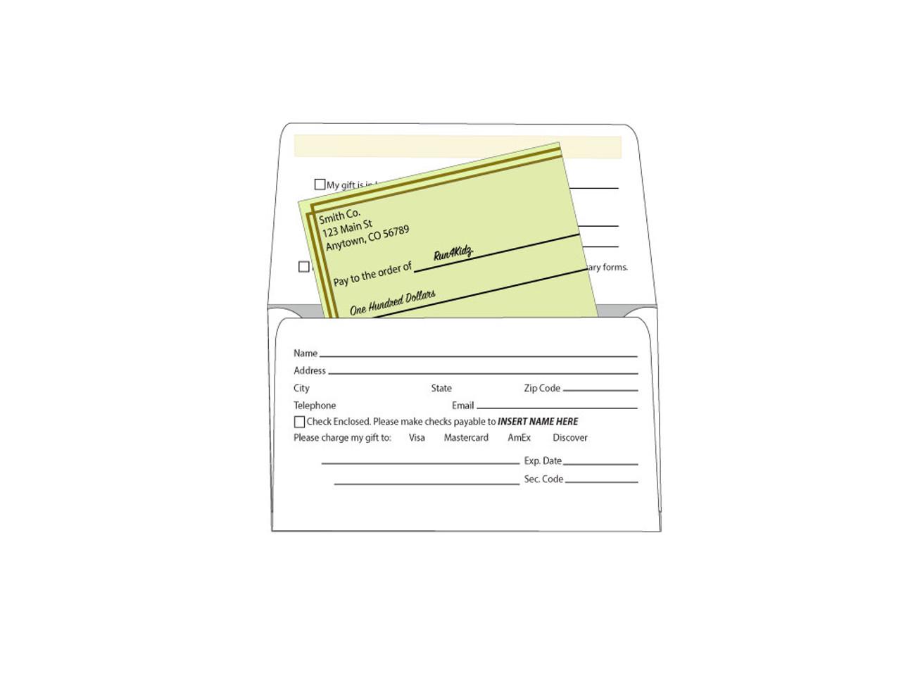 Custom #6 1/4 Remittance Envelopes EN1013