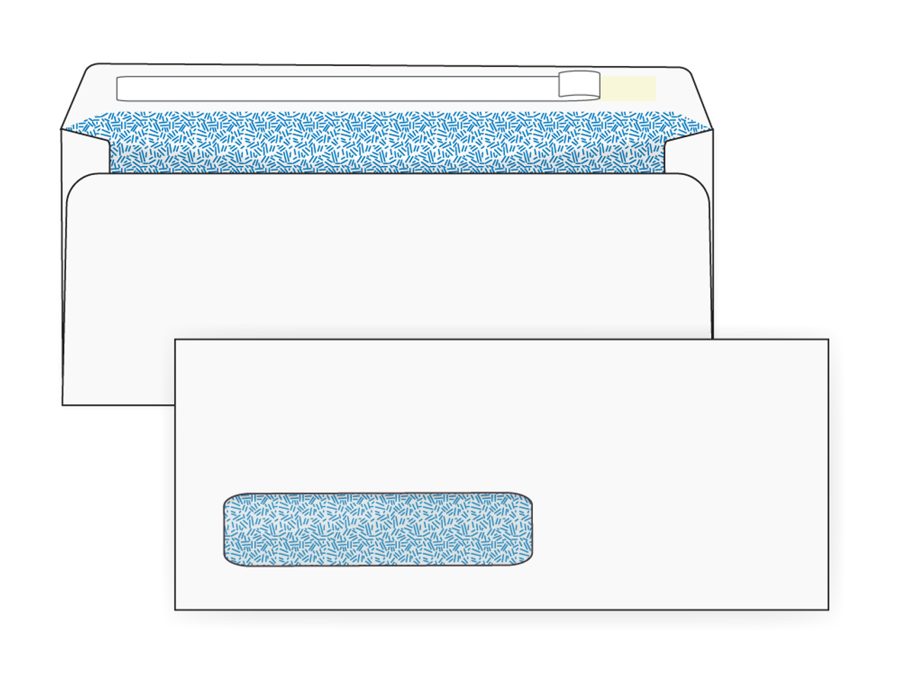 Self Seal #10 Digital Window Security Envelopes - EB1502