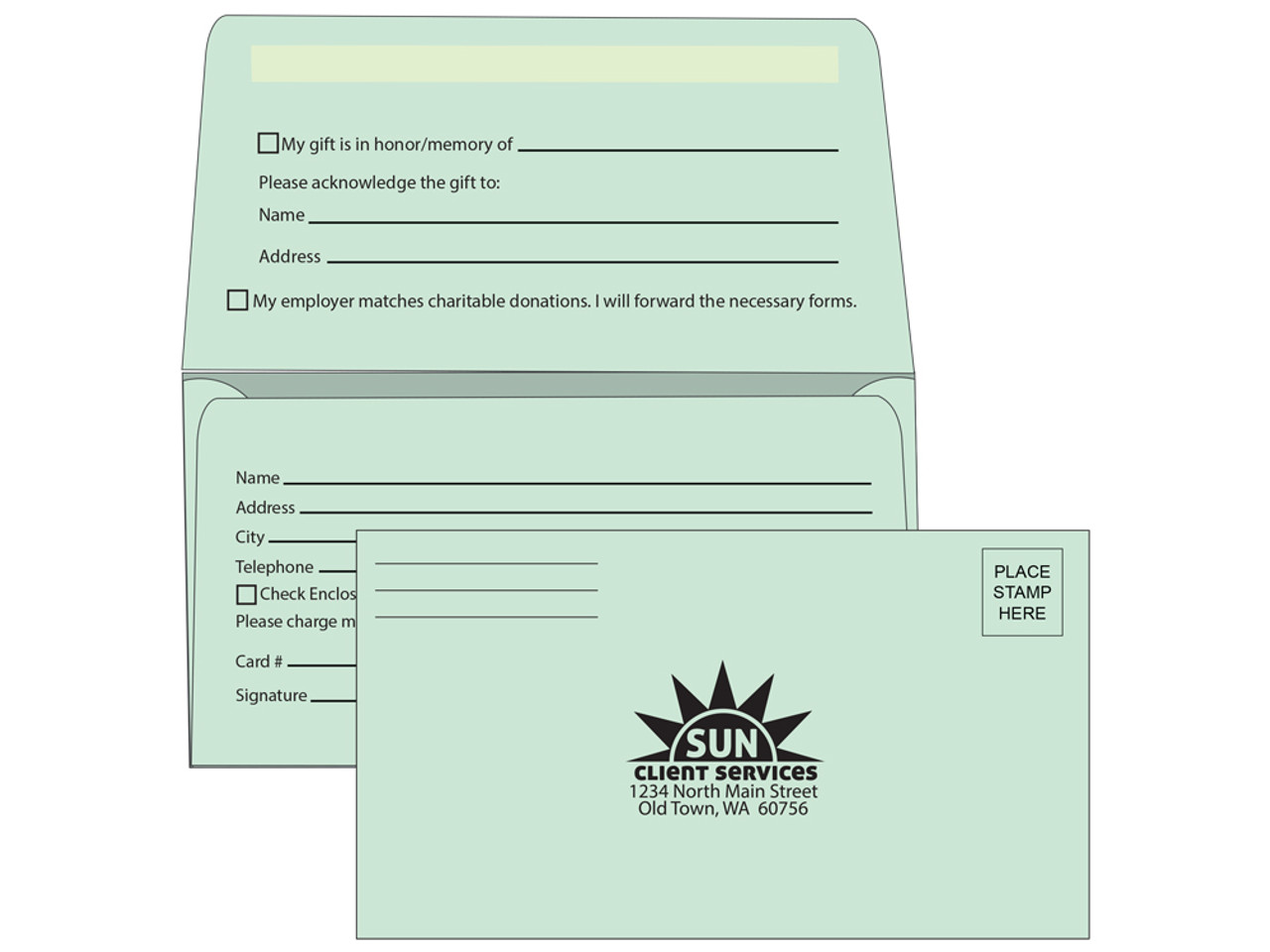 green fundraising envelopes