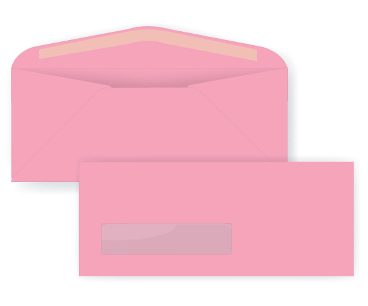 Pastel Pink Digital Window Envelopes