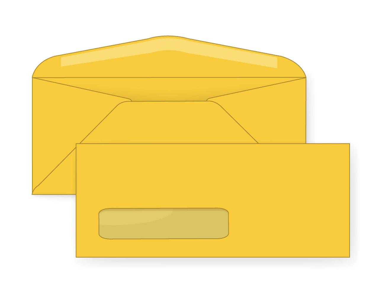 Pastel Goldenrod Digital Window Envelopes