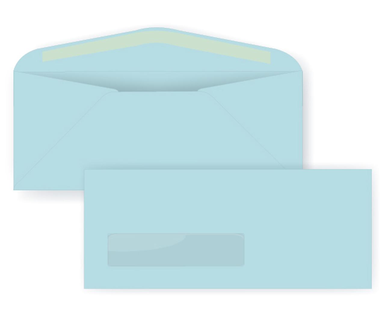 Pastel Blue Digital Window Envelopes