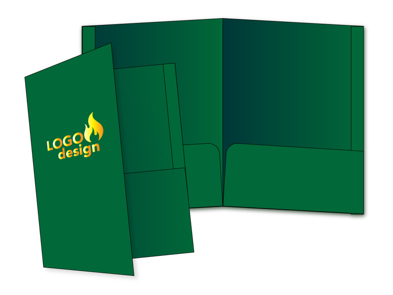 Custom Folders with Your Logo- Foil Stamped - FL1002