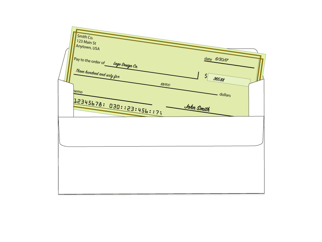 Self Seal Business Envelopes - #6 3/4 Payment Envelopes - EN1110