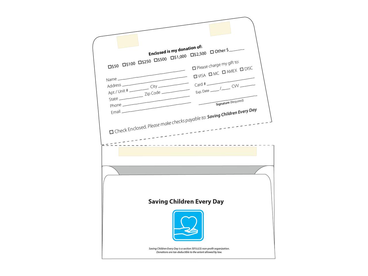 Dual Purpose Mailer - 6 1/2 Tear Off Envelope - EN1075