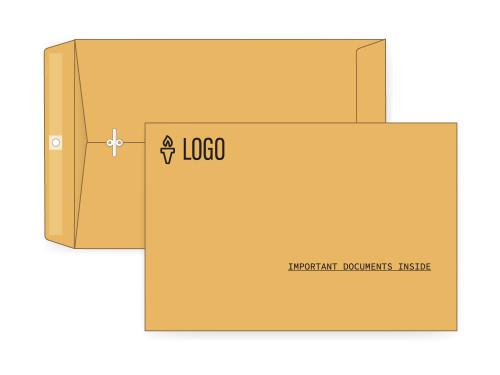 PRINTED - Custom 6x9 Clasp Envelopes - EN1015