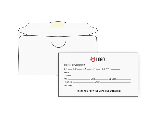 Custom White Offering Envelopes - EN1019