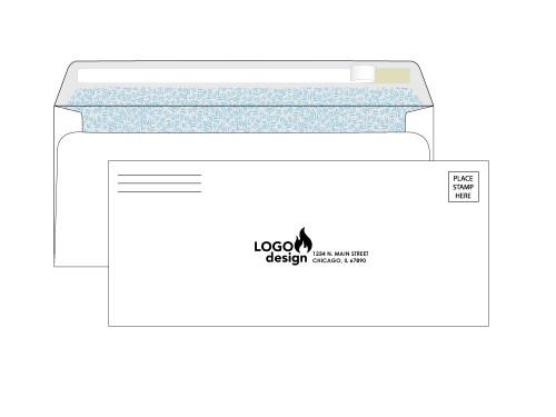 Self Seal #10 Custom Security Envelopes - EN1021