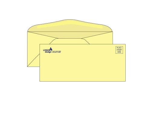 Custom #10 Yellow Business Envelopes - EN1047