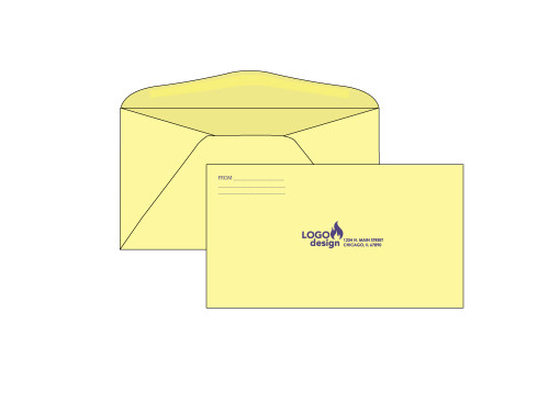 PRINTED - Custom Yellow 6.75 Envelopes - EN1051