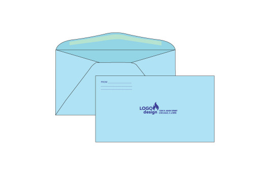 PRINTED - Custom Blue 6.75 Envelopes - EN1052