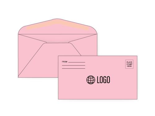 PRINTED - Personalized Pink #6 3/4 Envelopes - EN1053