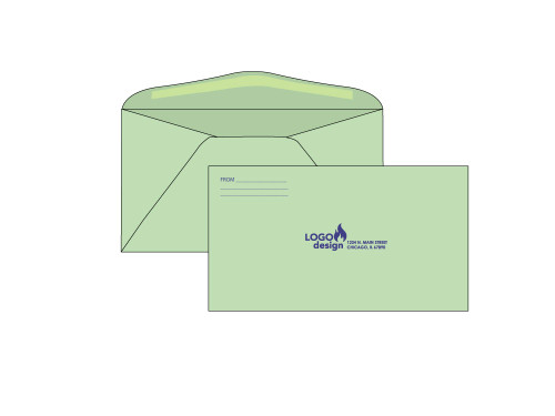PRINTED - Custom 6.75 Green Envelopes - EN1054