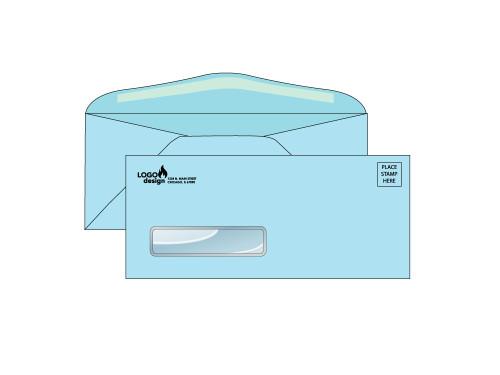 Custom Blue Window Envelopes - EN1055