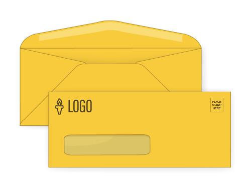Custom Gold Window Envelopes - EN1056