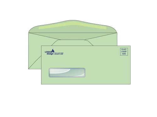 Custom Green Window Envelopes - EN1057