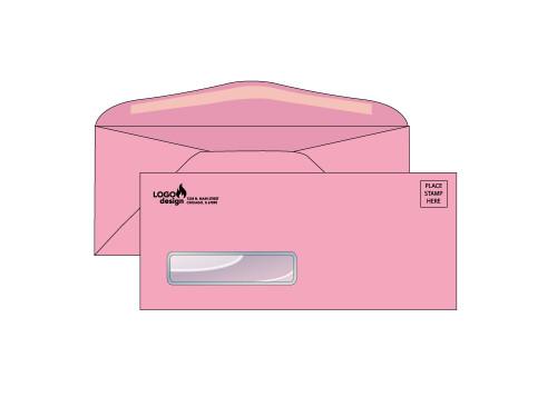 Custom Pink Window Envelopes - EN1058