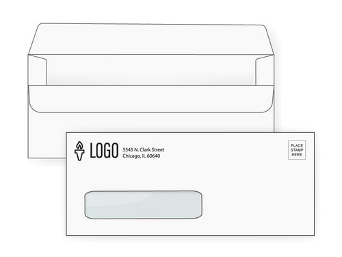 Custom #10 Simple Seal Window Envelopes - EN1062