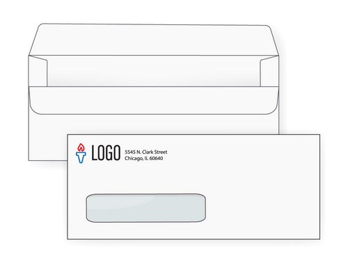 Custom #10 Simple Seal Window Envelopes - EN1062