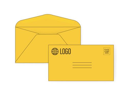 Custom #6 3/4 Gold Payment Envelopes - EN1064