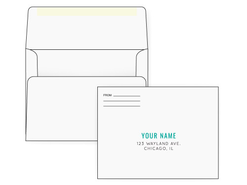 PRINTED - Custom White A7 Envelopes - EN1072