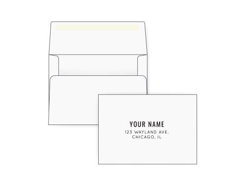 Custom A2 White Envelopes | Custom Invitation Envelopes - EN1073