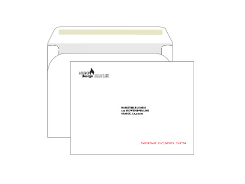 PRINTED - Custom Booklet Envelopes 9x12 - EN1027