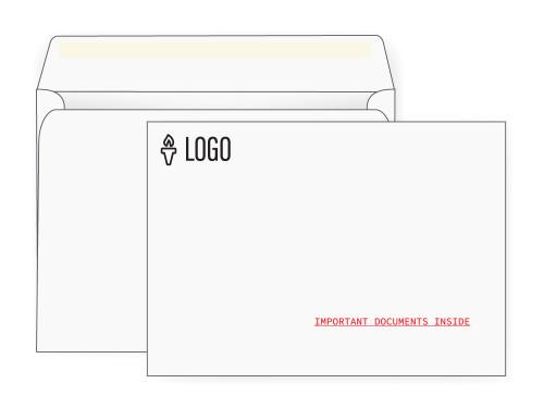 PRINTED - Custom Booklet Envelopes 9x12 - EN1027