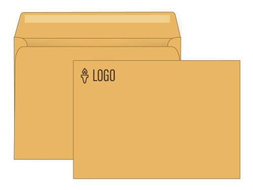 PRINTED - Custom Booklet 9x12 Brown Kraft Envelopes - EN1061