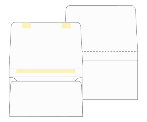 Dual Purpose Mailer - Tear Off Remittance Envelope (Blank) - EB1501