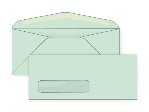 Pastel Green Digital Window Envelopes